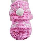 Hunde Sweater Hoodies, Kleine Hunde Katze Strick Hoodie Sweatshirt Welpen Mantel Kleidung(Rosa,XS)