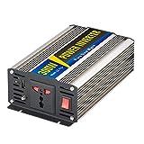 WANGTAO 300 W Power Inverter 12V/24V-110V/220V Peak 600W Car Converter mit AC Socket und 5V 1A USB Port (Gold),12V/220V