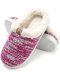 Zapatillas de Casa de Mujer Invierno - Zapatillas Casa Ultraligero Cómodo y Antideslizante, Zapatilla de Estar por Casa para Mujer Fluff Antideslizantes