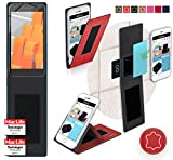 Wileyfox Spark X Hülle Cover Case in Rot Leder -