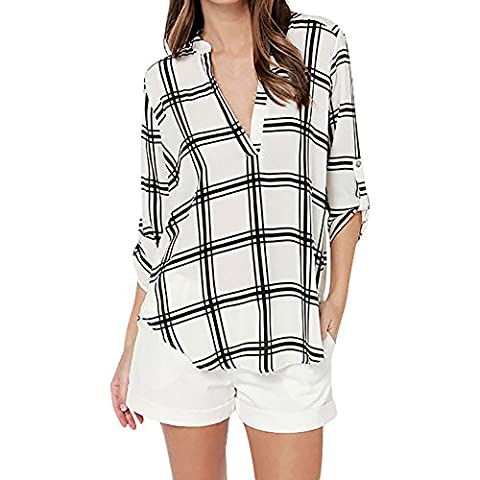 Eleery Women's Elegant Birds Print Stand Collar Long Roll Up Sleeve Button Down OL Style Casual Slim Blouse Top