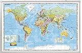 Franken KA600W Kartentafel Welt (magnethaftend 1:33.000.000) 138 x 88 cm
