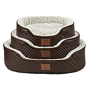 Bunty-Manhattan-Luxury-Quilted-Leather-Soft-Fur-Fleece-Dog-Bed-Pet-Cat-Basket