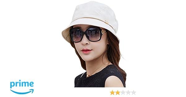 Siggi Femme Capeline Pliable Chapeau de Soleil R/églable Bucket Bord Seau Et/é Plage Voyage UPF UV