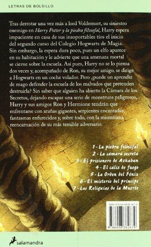 51HpeE4c9yL - Harry Potter y la Cámara Secreta: 83 (Letras de Bolsillo)