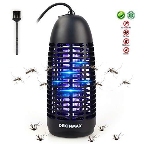 DEKINMAX Elektrischer Insektenvernichter, UV Insektenvernichter Mückenlampe Schutz vor Elektrischem SchlagTragbare Insektenlampe gegen Mücken, Fliegen, Moskitos für Innen Schlafzimmer und Gärten -