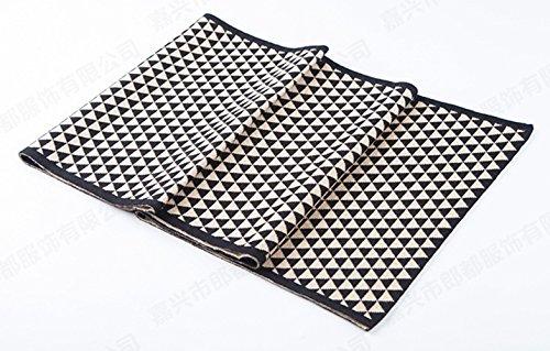 Insun - Echarpe - Homme 100% wool Black and Beige