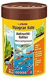 sera Vipagran Baby ein Mikro-Granulat für Jungtiere & kleinere Fische wie Bärblinge bzw. Salmler mit Präbiotika für verbesserte Futterverwertung, geringere Wasserbelastung & weniger Algen im Aquarium