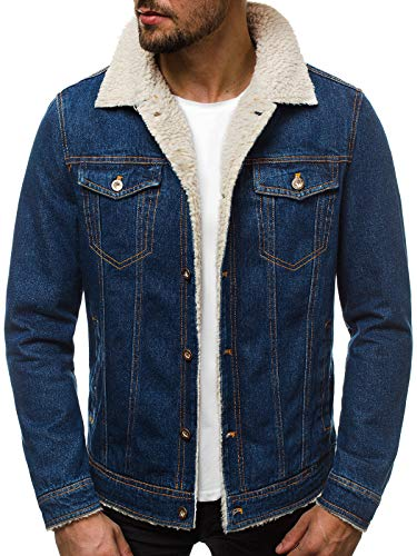 OZONEE Herren Jeansjacke Jacke Jeans Übergangsjacke Herbstjacke Vintage JB/JP1109 BLAU M -