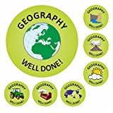 Geography Well Done Stickers