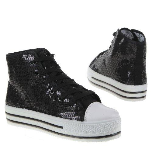 35 100 100 Damen Schwarz Schuhe Freizeitschuhe 35 C5WO6W8