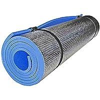 Leoie - Esterilla de yoga antideslizante para actividades en interiores, yoga, pilates al aire libre, almohadilla de entrenamiento de fitness y picnic, color azul, tamaño 180 * 50 * 0.6cm