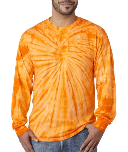 Pliuegy 5.4 oz., 100% Cotton Long-Sleeve d T-Shirt 3Orange Spider