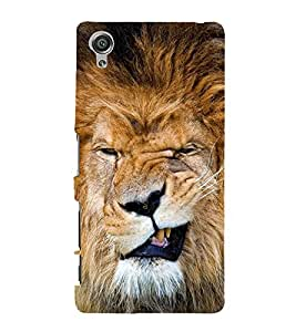 A SCOULED FACE LION FACE IMAGE 3D Hard Polycarbonate Designer Back Case Cover for Sony Xperia X::Sony Xperia X Dual F5122 with dual-SIM card slots
