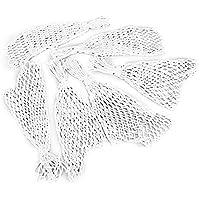 tykusm Set von 6Snooker Tisch Heavy Nylon Netze Taschen Netze Staubbeutel (weiß)
