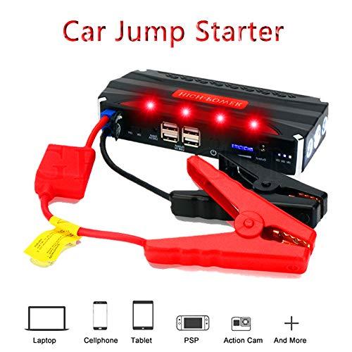 Jump Starter 600A Avviatore Batteria Booster Auto (per Motori 12V Benzina 2.5L) con USB QC 3.0 & Type-C per Tablet Power Starter Portatile per Auto Moto