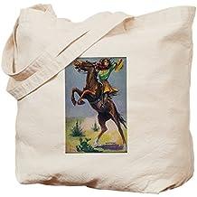 CafePress diseño de vaquera de caballo Bucking–Gamuza de bolsa de lona bolsa, bolsa de la compra