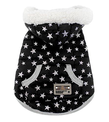 (smalllee _ Lucky _ store Hundemantel Hoodie Winterjacke Katze Fleece Gefütterte Winter Weste Coat Jacke Kapuzen Kostüm Kleidung Weiß XL)
