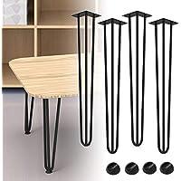 altura de mesa est/ándar estable 4 patas de horquilla para el cabello patas de mesa de metal resistentes para bricolaje patas de mesa 10 cm a 72 cm