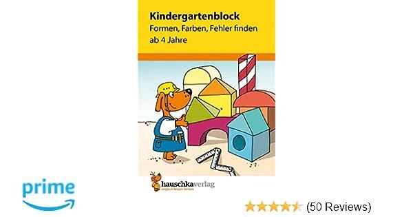 Kindergartenblock - Formen, Farben, Fehler finden ab 4 Jahre ...