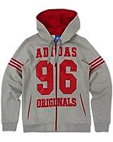 Herren adidas Originals Fleece-Kapuzenpullover 96 mit Reißverschluss Herren Grau