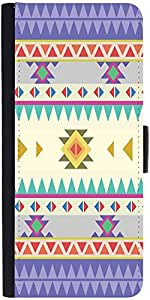 Snoogg Aztec Pattern Purpledesigner Protective Flip Case Cover For Redmi Note 2