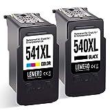 LEMERO Wiederaufbereitet PG-540XL CL-541XL Ersatz für Canon PG540XL CL541XL Tintenpatronen für Canon Pixma MG4250 MG3550 MG4150 MG2150 MG2250 MG3150 MG3250,Schwarz Farbe