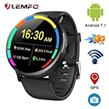 "OVIO LEMFO LEMX Smart Watch Phone 4G LTE - Android 7.1 2.03"" Screen"