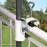 Videx-Sonnenschirmhalter für Handlauf, Typ H II, weiß, bis ø 35mm