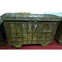 Alte forziere de madera y hierro L125X PR68X H93cm - Muebles de Dormitorio precios