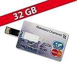 32 GB Speicherkarte in Scheckkartenform Standard Chartered Platinum USB