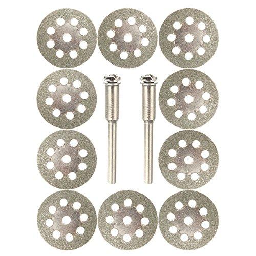 esportsmjj 10022mm Diamant beschichtete 9Löcher Trennscheiben mit 2Spanndorn für Dremel Black And Decker Dust Collector