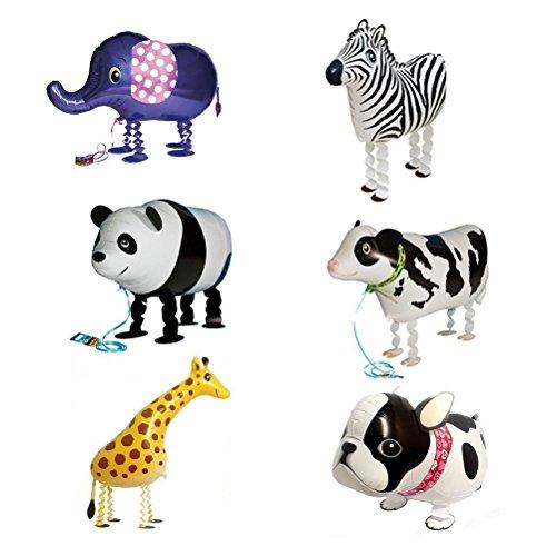 Folieballons gehende Ballons für Geburtstag Party Deko oder Kinder Spielzeug Geschenk 6pcs (Ballon Tiere)