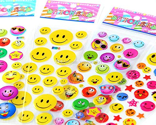 SBS Kids Favorite Smiley Emoji Puffy Stickers (Multicolour)