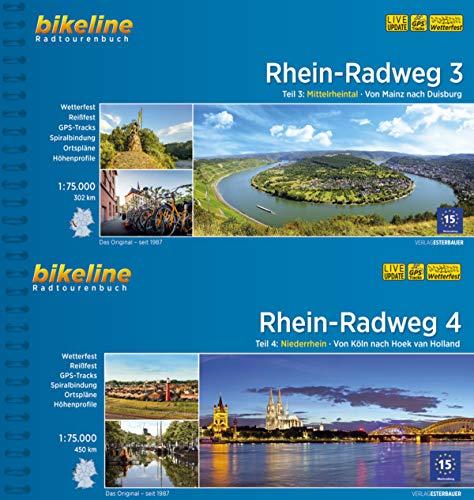 Bikeline Radtourenbuch Rhein-Radweg (Band 3+4) von Duisburg über Köln nach Hoek van Holland im Geschenkse