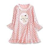 Chemise de nuit à Manches Longues Jersey pour Bébé Fille 1-2 ans Pyjama en coton Rose
