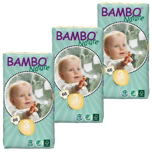 Bambo Nature 3paquetes de pañales (talla mediana), 198 unidades, 5a9kg