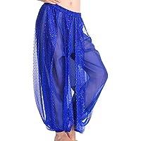 Moresave - Pantalones de mujer para danza del vientre, azul oscuro, talla única