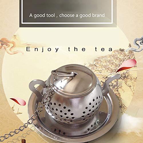 Happy-day Kitchen Tools Tee-Ei mit Blatt-Motiv, Edelstahl, Diffusor, Kräutergewürze - Digital-timer-diffusor