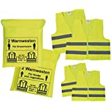 Car Hi-Vis Safety Vest for the whole family 2 Adults Vests + 2 Pack Kinderwesten