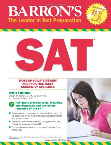 SAT, 29th Ed w/online test (Barron's Sat)