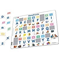 Larsen GP426 MemoPuzzle: The Alphabet with 26 Upper and Lower Case Letters, Jigsaw Puzzle with 52 Pieces