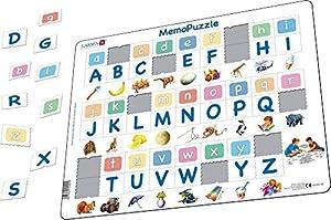 LARSEN- RompecabezasPuzzles encajables y rompecabezasLARSENletters in memo Pictures, Multicolor (30)