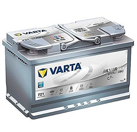 Varta 580901080D852 F21 Silver Dynamic AGM Batterie de voiture 12 V, 80 Ah, 800 A