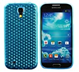 Luxburg® Diamond Design Schutzhülle für Samsung Galaxy S4 GT-I9505 in Farbe Aquamarin Blau/Hellblau, Hülle Case aus TPU Silikon