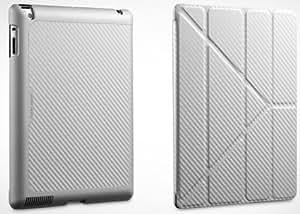 Cooler Master - Yen Folio - Étui pour tablette Web - polyuréthane, polycarbonate, microfibre - blanc argenté - pour Apple iPad (3ème génération); iPad 2; iPad with Retina display (4ème génération)