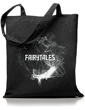 Kane Grey - Fairytales - Jutebeutel in schwarz