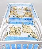 BABYLUX Kinderbettwäsche 2 Tlg. 90 x 120cm Bettwäsche Bettset Babybettwäsche (63. Teddybären Blau)