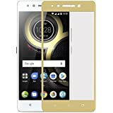 Lenovo K8 Plus Tempered Glass Screen Protector, 9H Hardness And 2.5 D Curved Edge Tough Glass Full Coverage Tempered Glass, [GOLD] [Edge To Edge Crash Protection] Curved [Scratch Proof] [Bubble Free] Tempered Glass Screen Protector