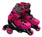 ELEKTRA Tri Line Adjustable Boots (Small, Pink)